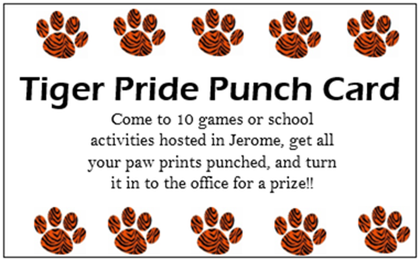 Tiger Pride Punch Card